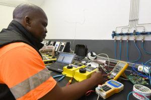 The ESI Smart Sensor undergoing quality testing at Booyco Electronics.